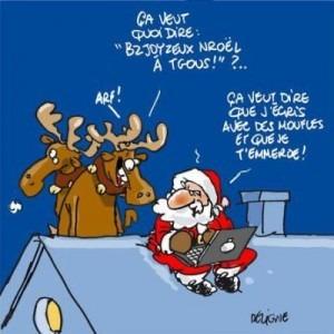 Photo Père Noël du 21 ème siècle